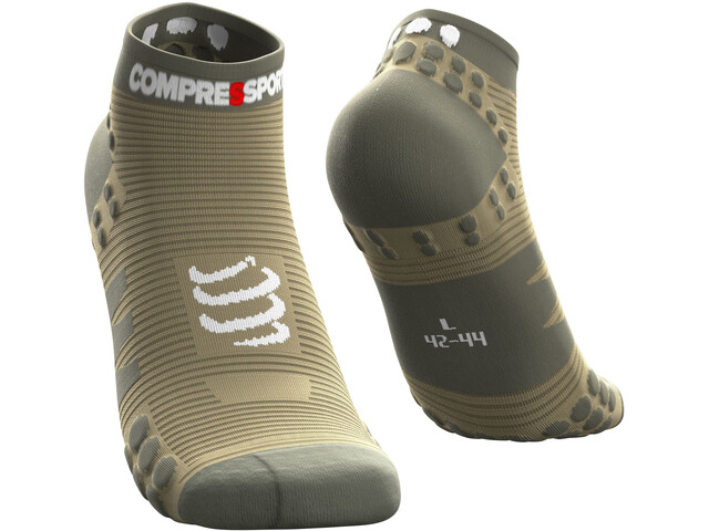Compressport Pro Racing V3.0 Run Chaussettes Basses, dusty olive